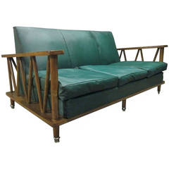 French Cerused Oak Loveseat in the Style of Jean Michel Frank