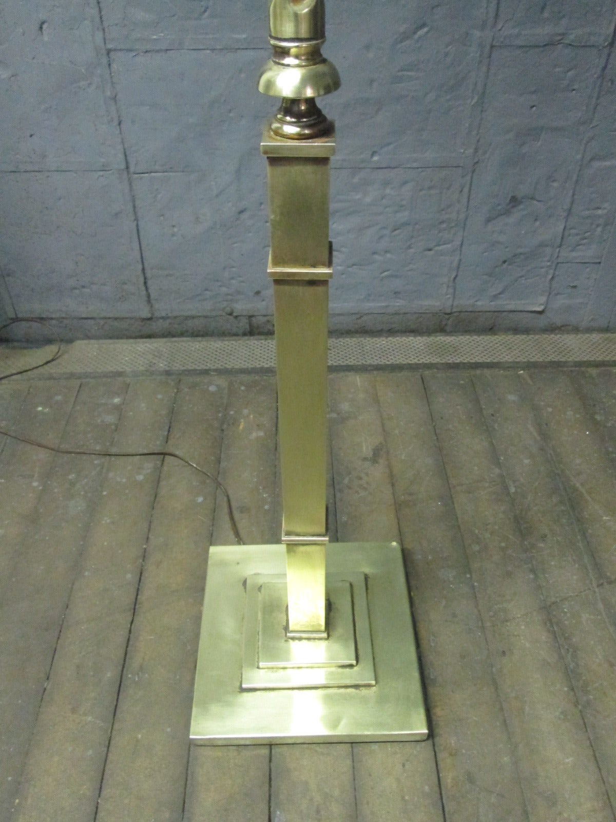 Early 20th Century French Bronze Floor Lamp For Sale