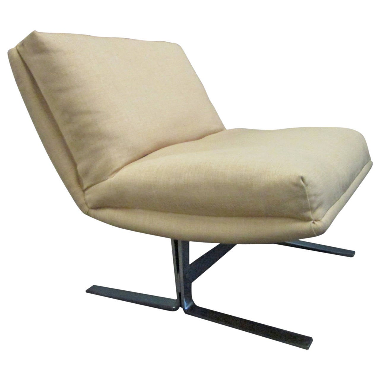 Chrome Lounge Chair by Design Institute of America