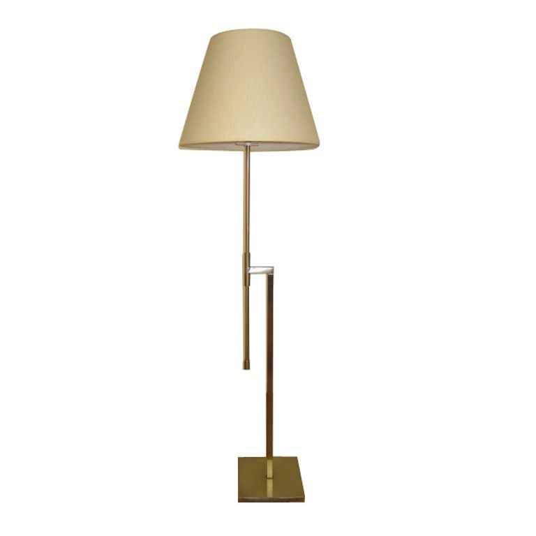 Wall Lamp Height From Floor : Laurel Adjustable Height Brass Floor Lamp at 1stdibs