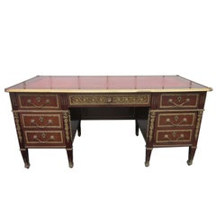 French Empire Style Desk with Leather Top