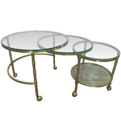 French Bronze Nesting Tables
