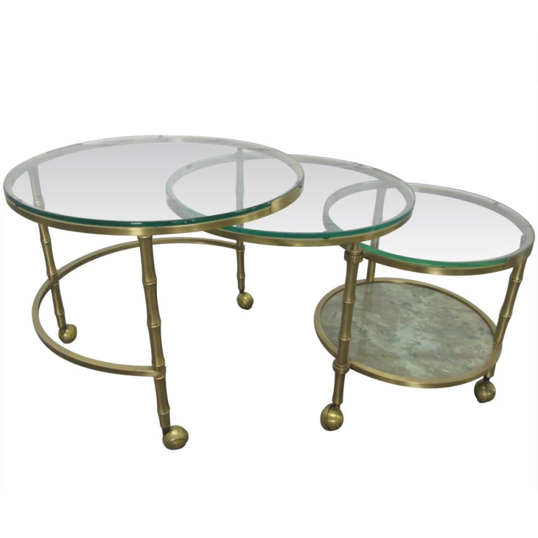 Bronze Nesting Coffee Tables: French Bronze Nesting Tables For Sale At 1stdibs