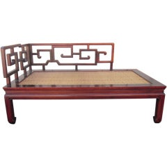 Don shoemaker leather rosewood sofa for sale at 1stdibs for Asian chaise lounge