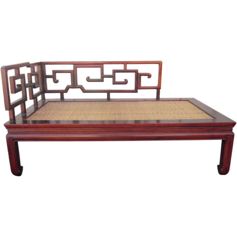 Asian rosewood chaise lounge at 1stdibs for Asian chaise lounge