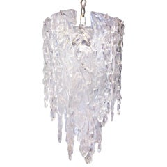 Murano Glass Cascading Icicle Chandelier