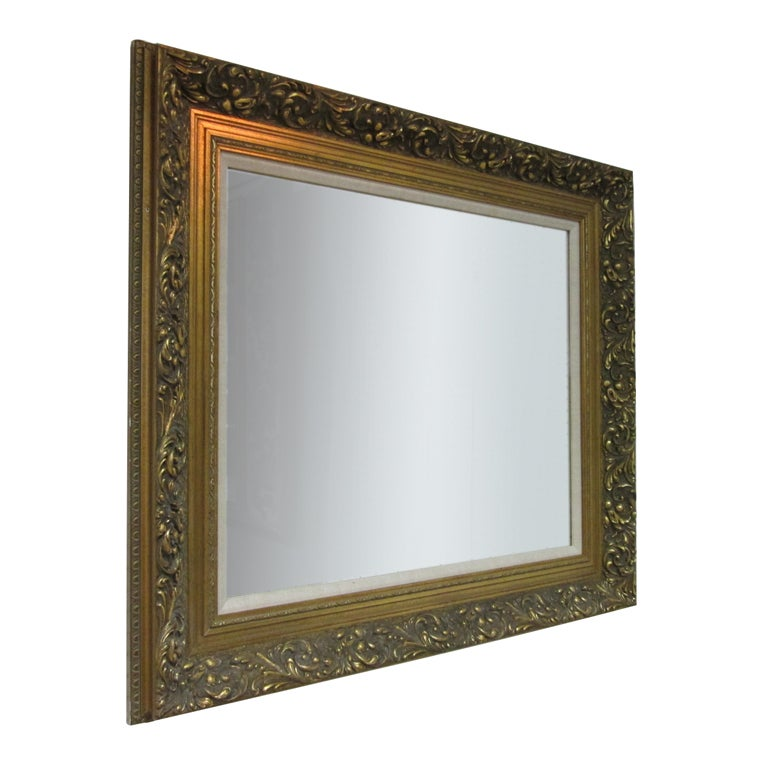 Antique style gold wall mirror for sale at 1stdibs for Antique style wall mirror