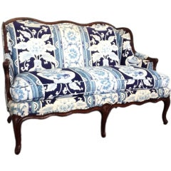 French Antique Style Upholstered Sofa
