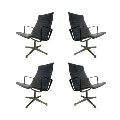 4 Herman Miller Aluminum Management Chairs