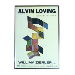 Rare Signed Alvin Loving Poster Exhib at William Zierler Gallery