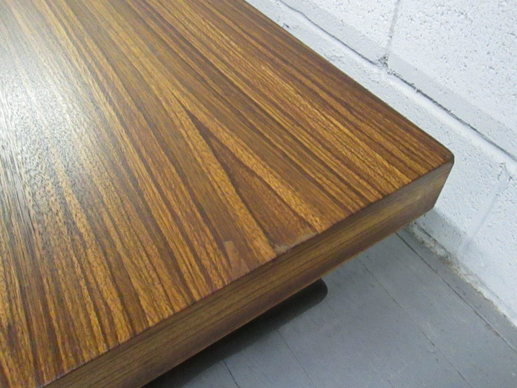 Zebra wood asian style coffee table at stdibs