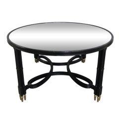 Maison Jansen Mirrored Top Coffee Table