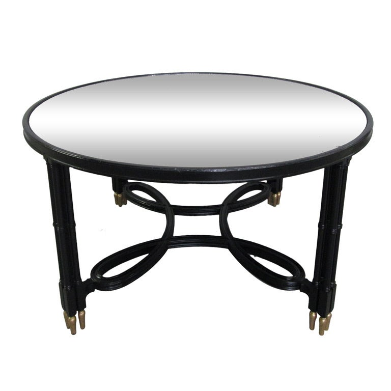 Maison Jansen Mirrored Top Coffee Table For Sale At 1stdibs
