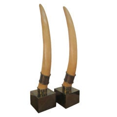 Pair Chapman Faux Elephant Tusks
