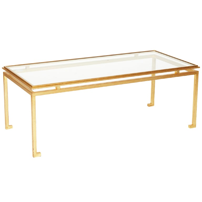 Https Www 1stdibs Com Furniture Tables Coffee Tables Cocktail Tables Gilded Iron Glass Cocktail Table Roger Thibier Id F 759859