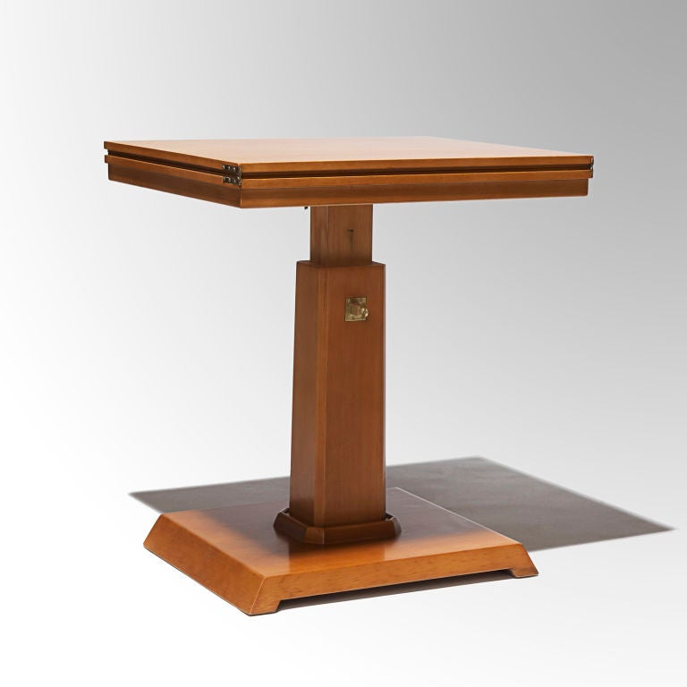 Adjustable Side Table Singapore: Adjustable Side Table In Beech By Axel Einar Hjorth At 1stdibs