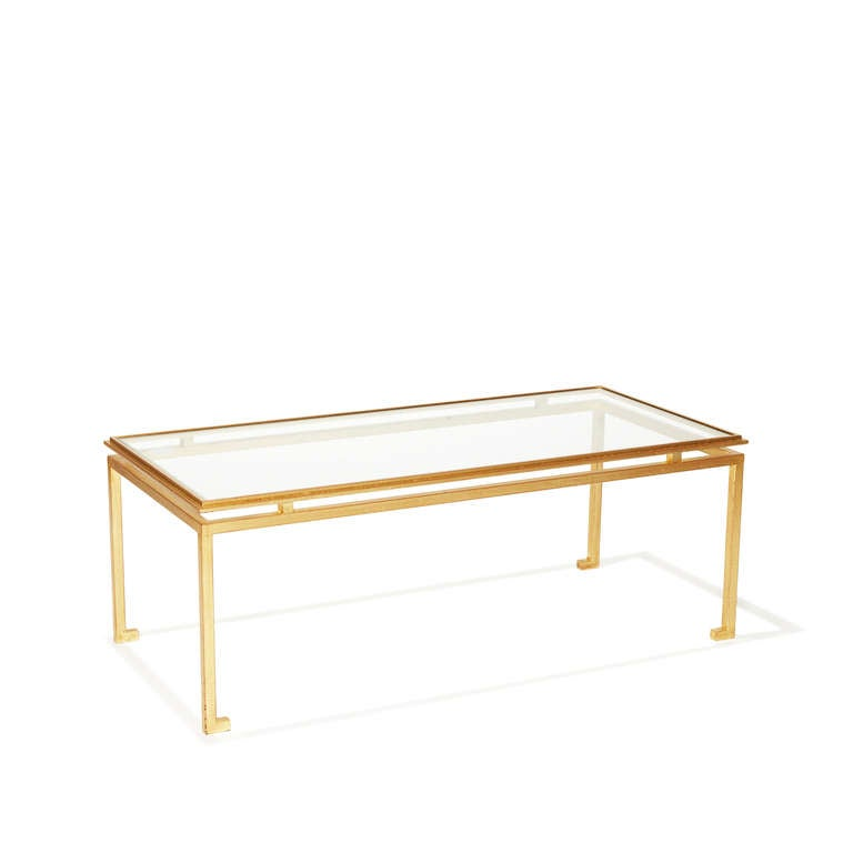 Live Edge Solid Slab Of Tamboril Coffee Table By Tunico T: Coffee Table In Gilded Iron And Glass By Robert Thibier At