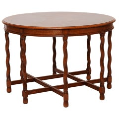 Center or Side Table in Oak by A.E. Hjorth Attributed for NK