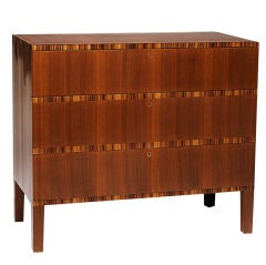 Exquisite functionalist chest of drawers by Margareta Köhler