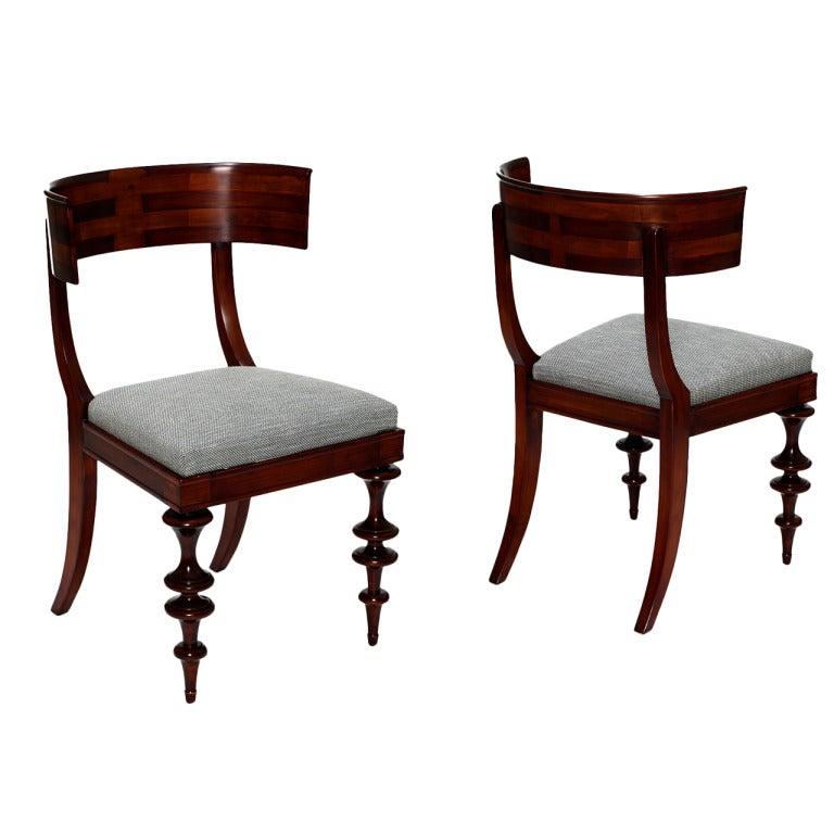 Modern Klismos Chair: Extraordinary Pair Of Danish Modern Classicism Klismos Chairs In Birch At 1stdibs