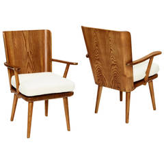 Pair of Armchairs in Solid and Laminate Pine by Karl Andersson & Söner