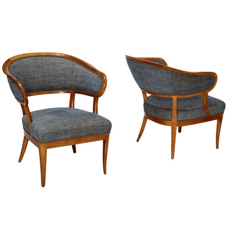 pair of jonas love chairs in beech by carl malmsten at 1stdibs On jonas furniture