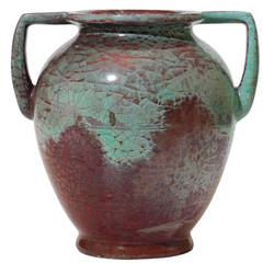 Monumental Jugend Style Urn with Luster Glaze by Kähler