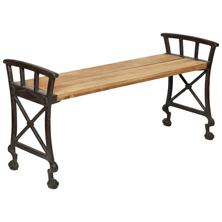 Parkbänk No. 2 Bench in Cast Iron by Folke Bensow For Sale