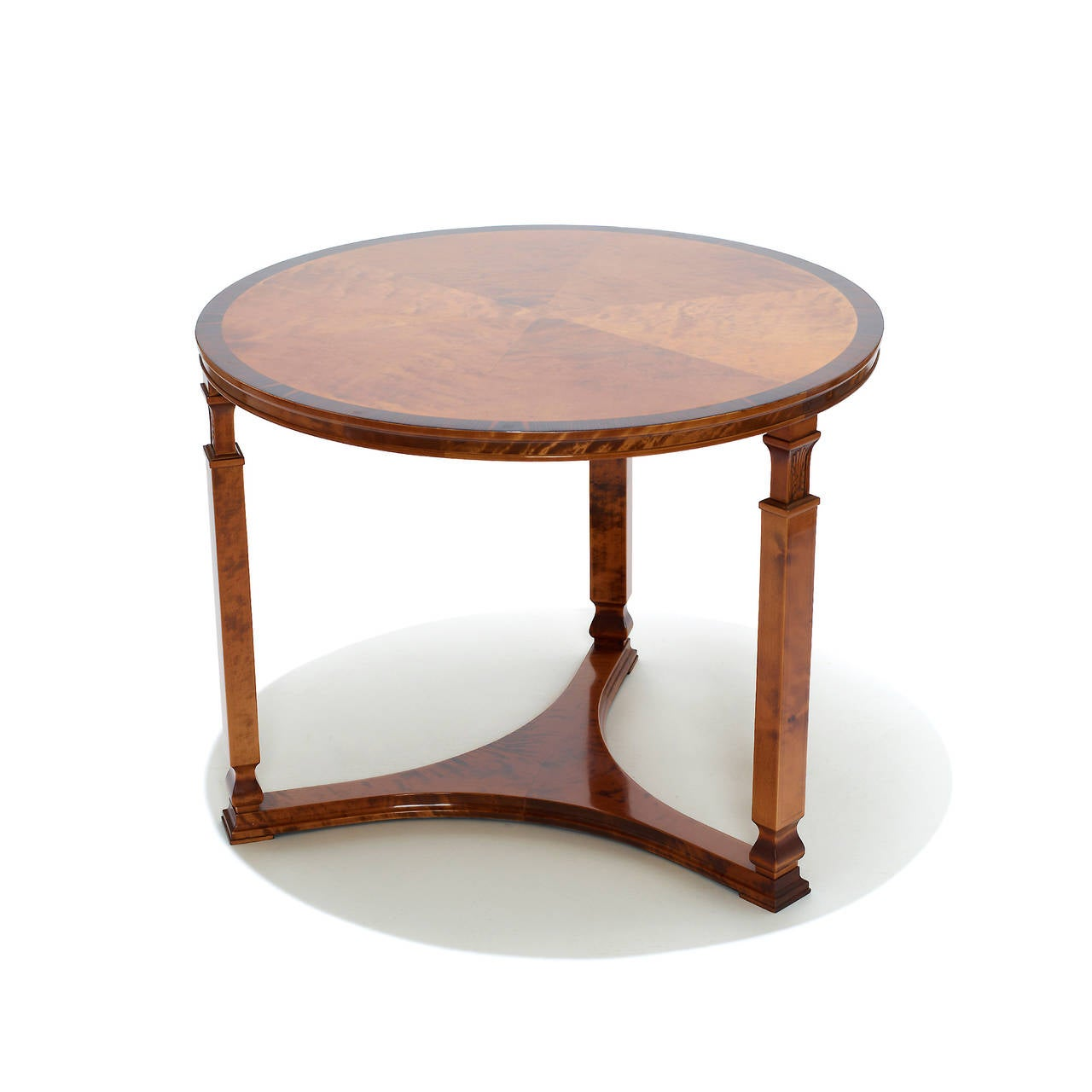 Round modern classicism side table by axel larsson at 1stdibs Modern side table