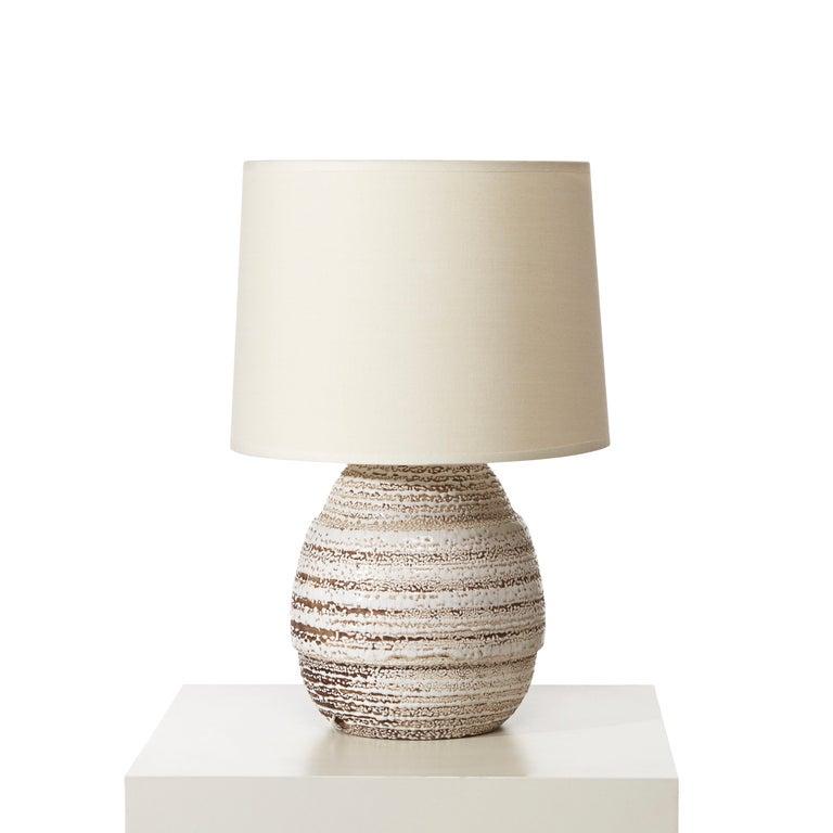 Petite table lamp in ceramic with crispé glaze by Jean Besnard 2