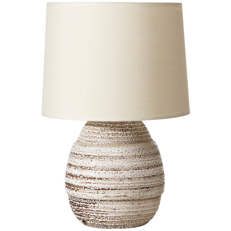 Petite table lamp in ceramic with crispé glaze by Jean Besnard 1