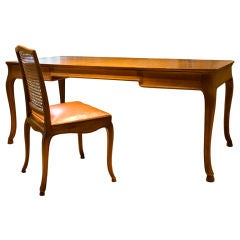 Louis XV style desk with chair in oak by Frits Henningsen