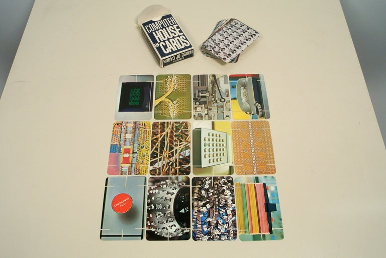 Charles Eames Computer House Of Cards Ibm At 1stdibs
