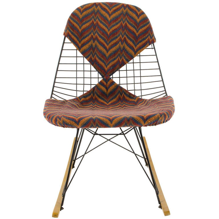 Charles eames custom rkr wire rocker 1950 39 s at 1stdibs for Chaise wire eames