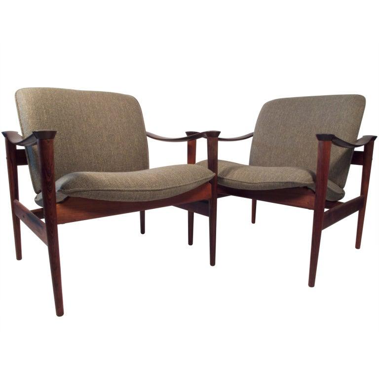 Fredrik Kayser Model 711 Rosewood Lounge Chairs 1960 S At