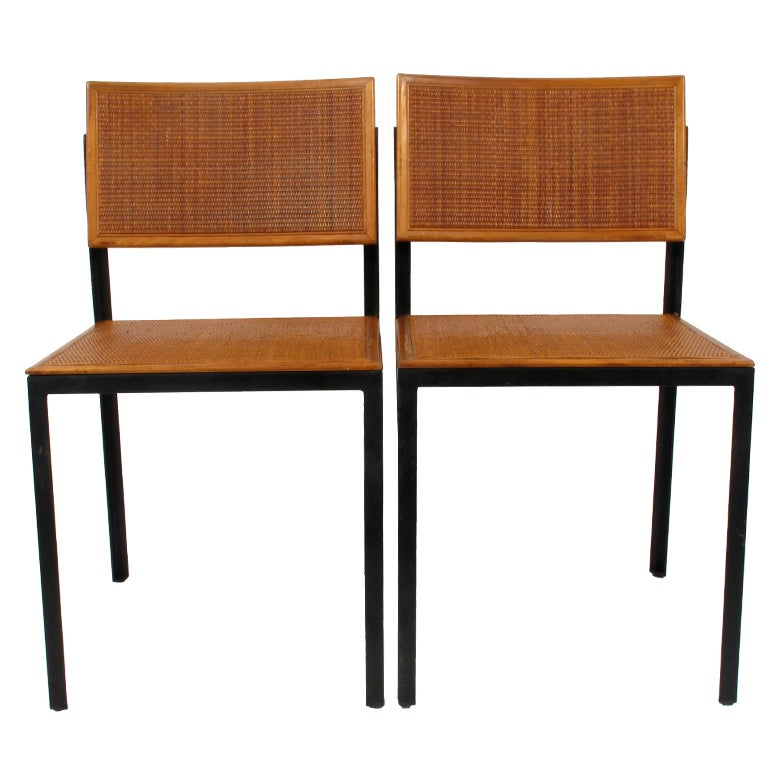 George Nelson Steel Frame Side Chairs At 1stdibs