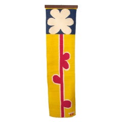 Evelyn Ackerman Modernist 'Flower' Wall Hanging 1960's