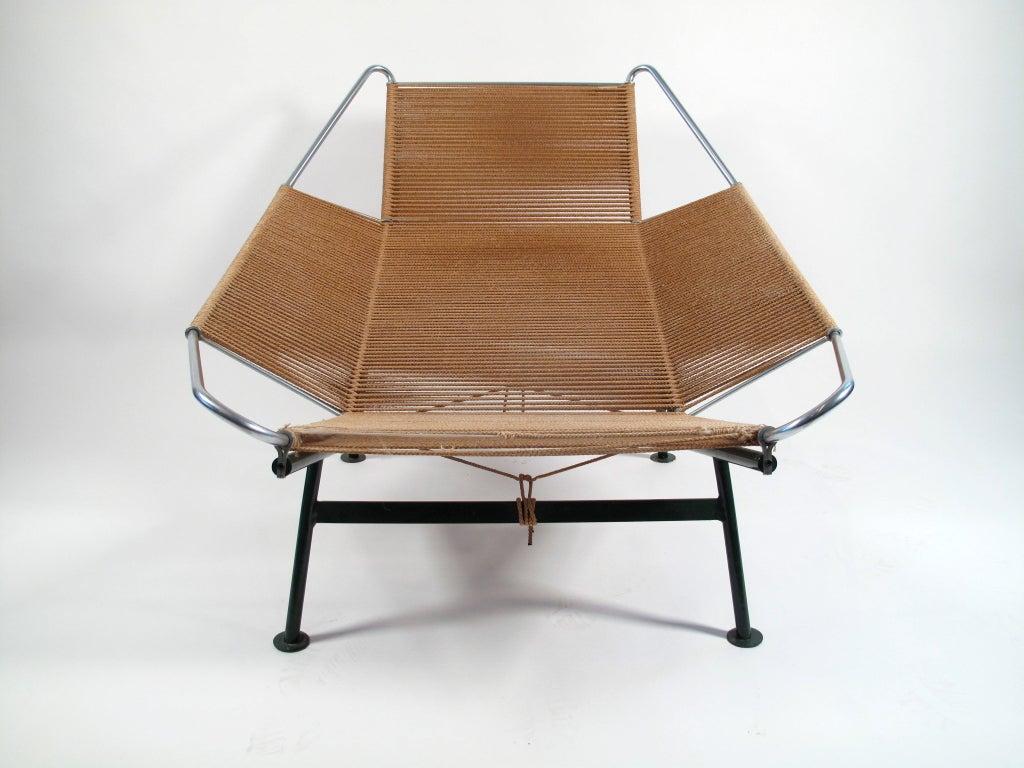 Hans Wegner Flag Halyard Lounge Chair 1950 Denmark At 1stdibs