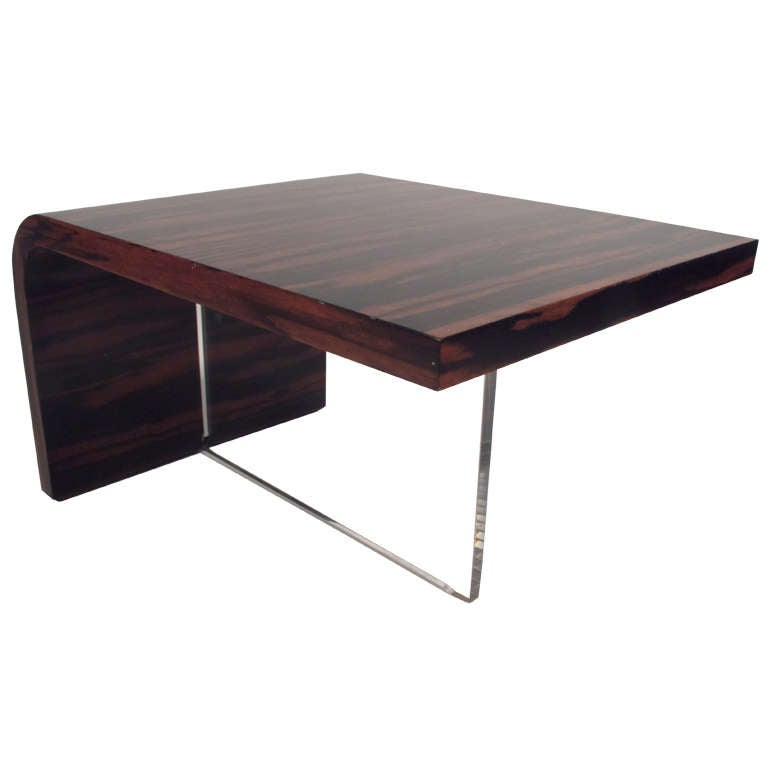 Vladimir Kagan Zebrawood Lucite Cocktail Table At 1stdibs