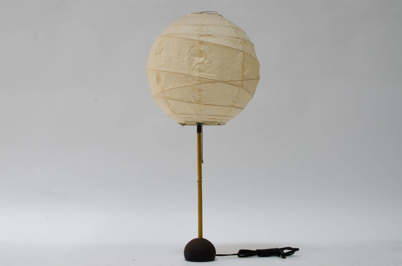 Isamu Noguchi Akari Bamboo Table Lamp For Sale at 1stdibs