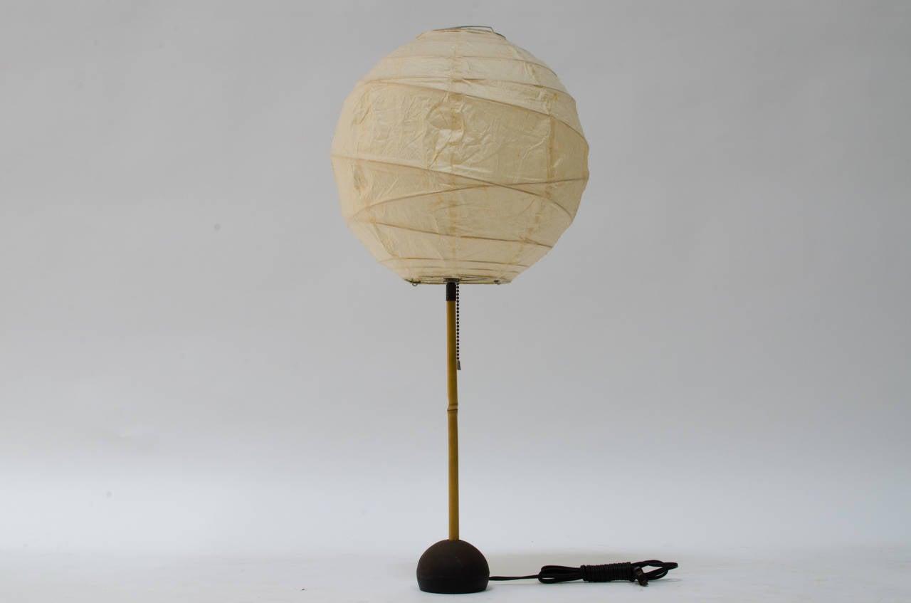 isamu noguchi akari bamboo table lamp at 1stdibs. Black Bedroom Furniture Sets. Home Design Ideas