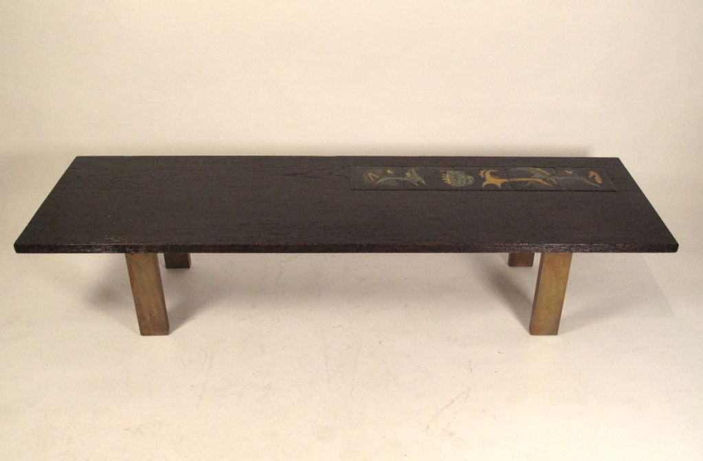 Vladimir Kagan Coffee Table Alexander Kasuba Tiles 1949 At