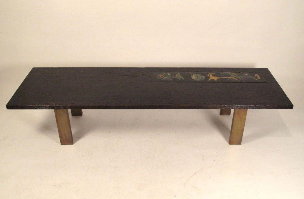 Vladimir Kagan Coffee Table Alexander Kasuba Tiles 1949 At 1stdibs