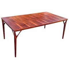 Exquisite Helge Vestergaard Jensen Rosewood Dining Table