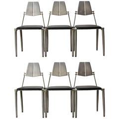 Robert Josten Aluminum Dining Chairs California Modern
