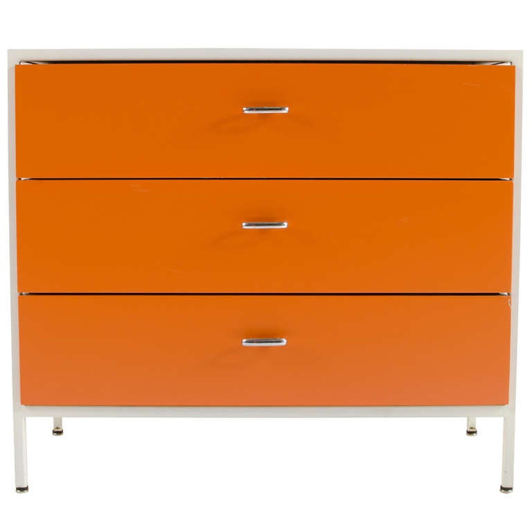 George Nelson Steel Frame Chest 1955 At 1stdibs