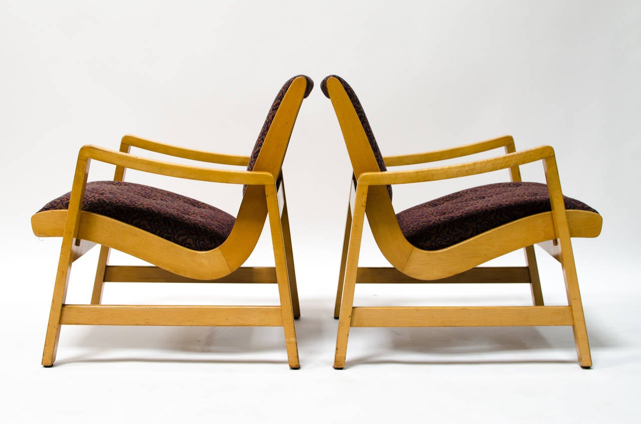 early jens risom for knoll lounge chairs at 1stdibs