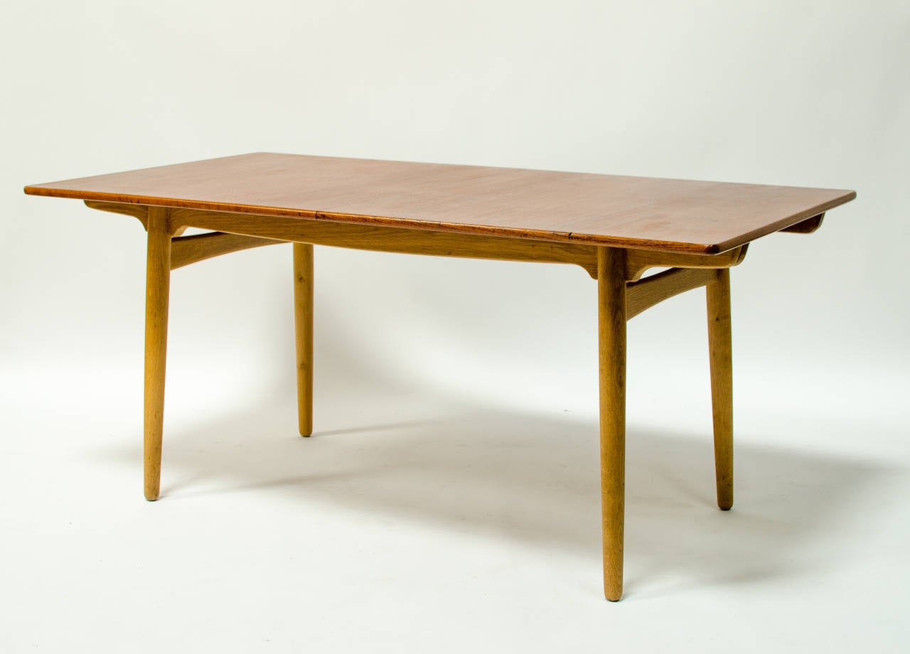 Hans Wegner Teak And Oak Extension Dining Table For Andreas Tuck Image . Full resolution‎  photograph, nominally Width 1280 Height 920 pixels, photograph with #AE5100.