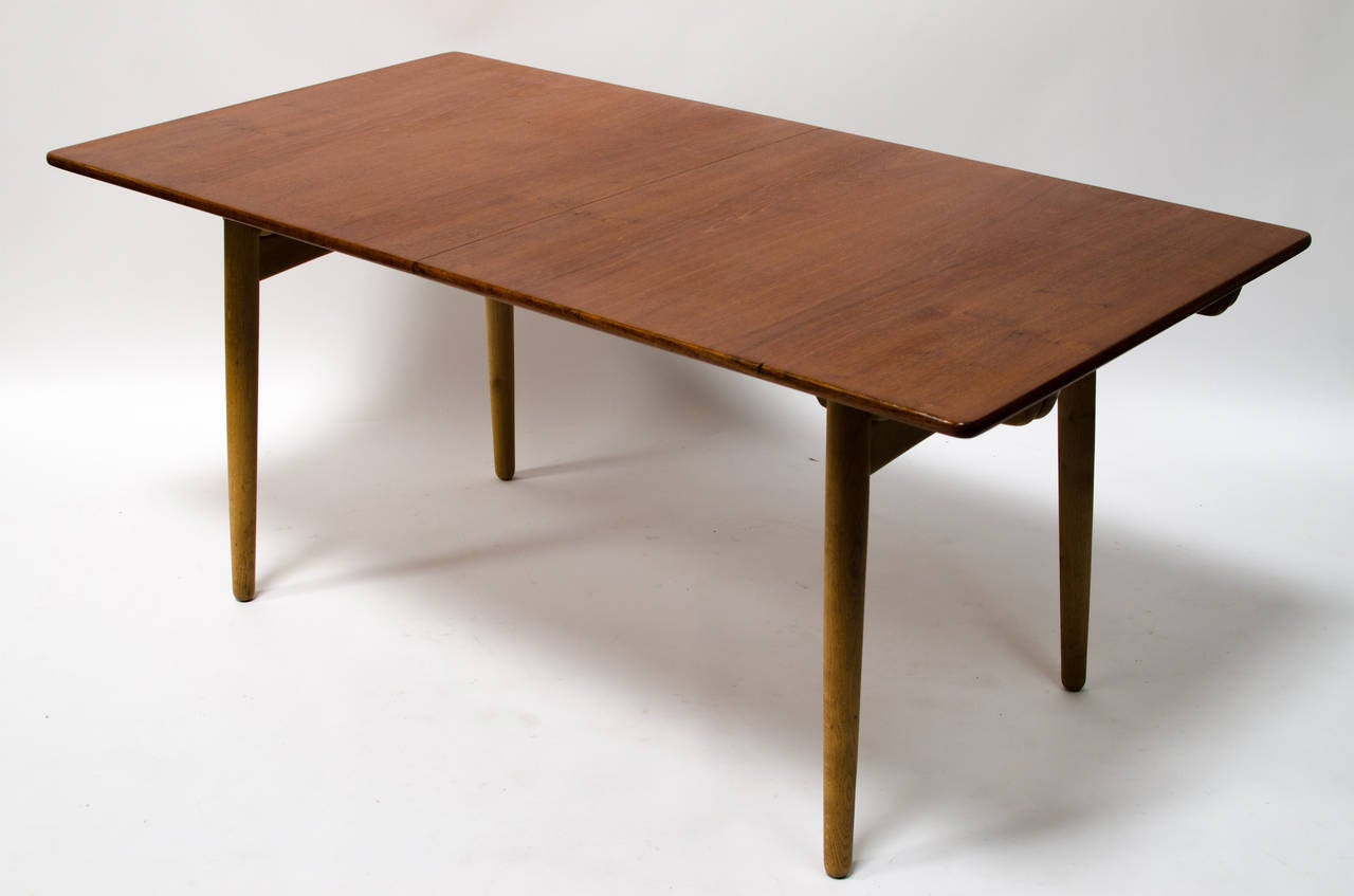 Hans Wegner Teak And Oak Extension Dining Table For Andreas Tuck Image . Full resolution‎  photograph, nominally Width 1280 Height 847 pixels, photograph with #301A07.