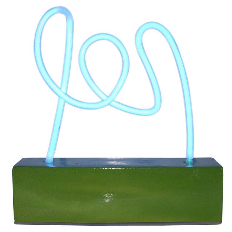 Diego Matthai Unique Neon Table Lamp Sculpture At 1stdibs